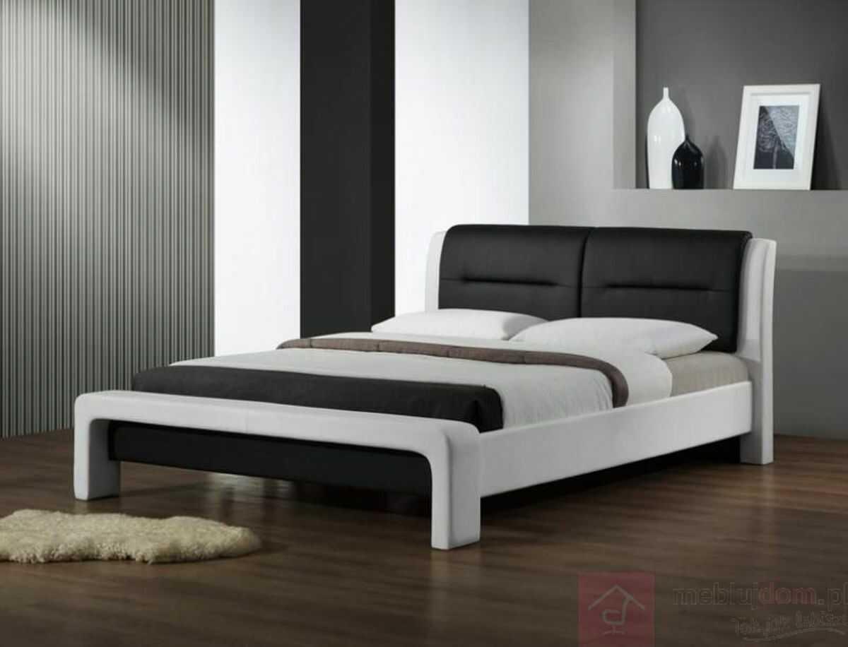 KUPON 10% NA STRONIE  Łóżko CASSANDRA Halmar 160x200 cm, Czarno-biały
