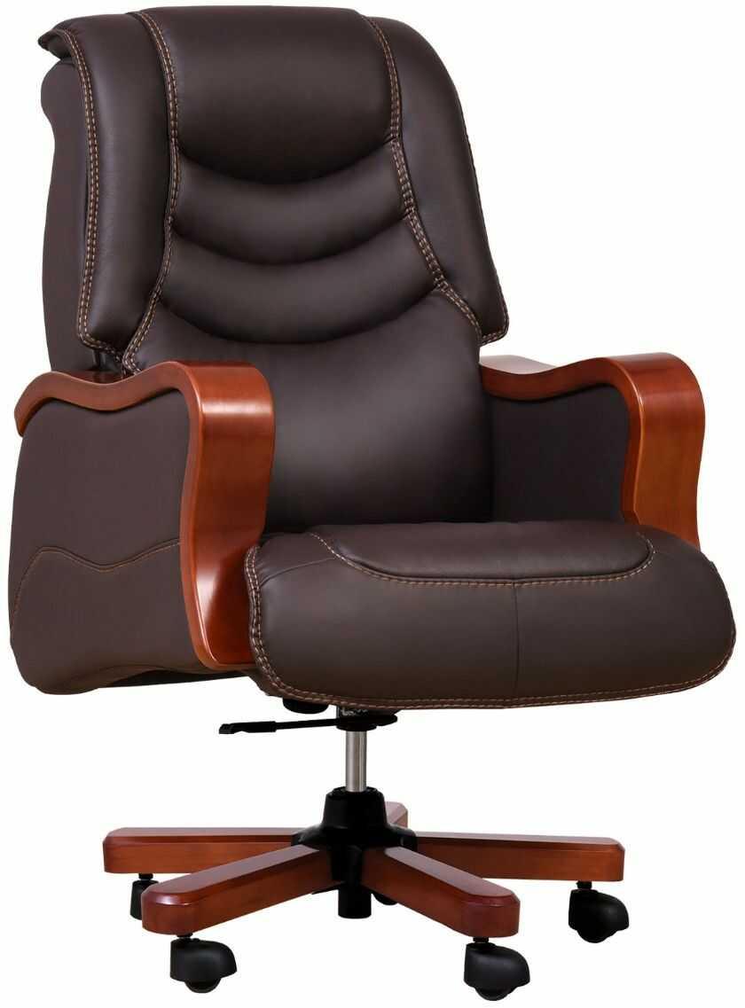 Fotel skórzany PRESIDENT brązowy