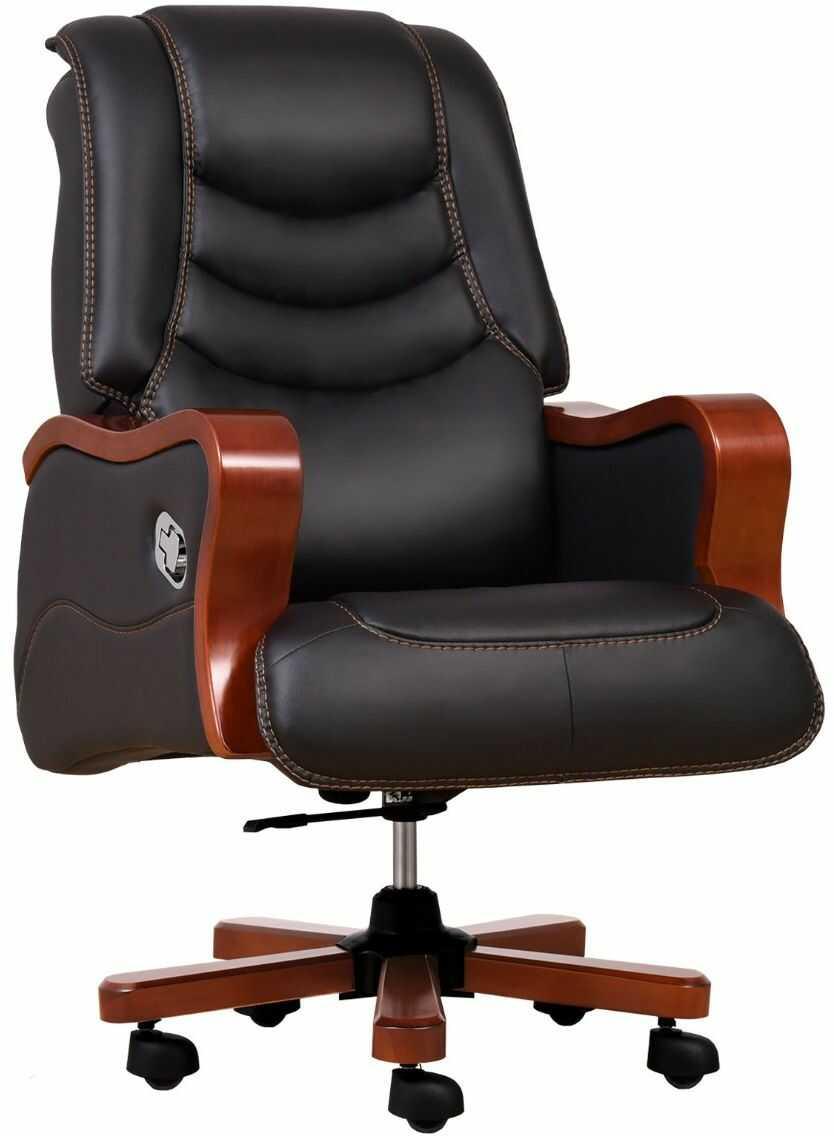 Fotel skórzany PRESIDENT czarny