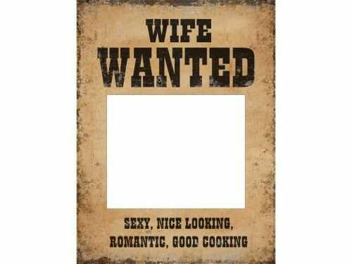 Tabliczki Husband Wanted i Wife Wanted, 2 szt.