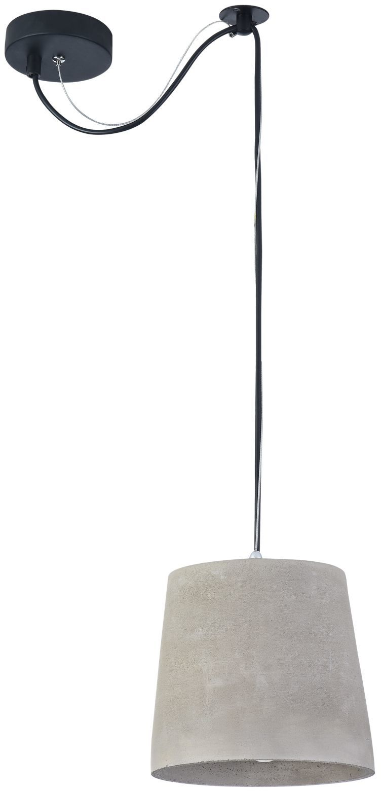Maytoni Broni T440-PL-01-GR lampa wisząca metalowa osłona sufitowa czarna klosz betonowy szary 1 X E27 60W 19 cm