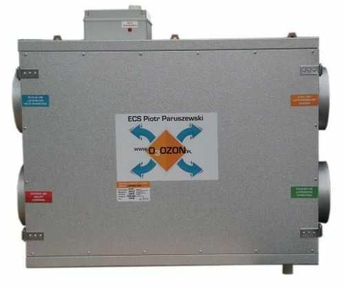 Centrala wentylacyjna CWP 500/200 jon16 - Rekuperator PRZECIWPRĄDOWY + jonizator