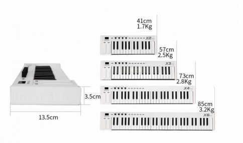 MIDIPLUS- X6 mini - klawiatura sterująca