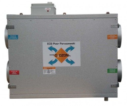 Centrala wentylacyjna CWP 650/250 jon16 - rekuperator przeciwprądowy 1200m3/h + sterownik + jonizator