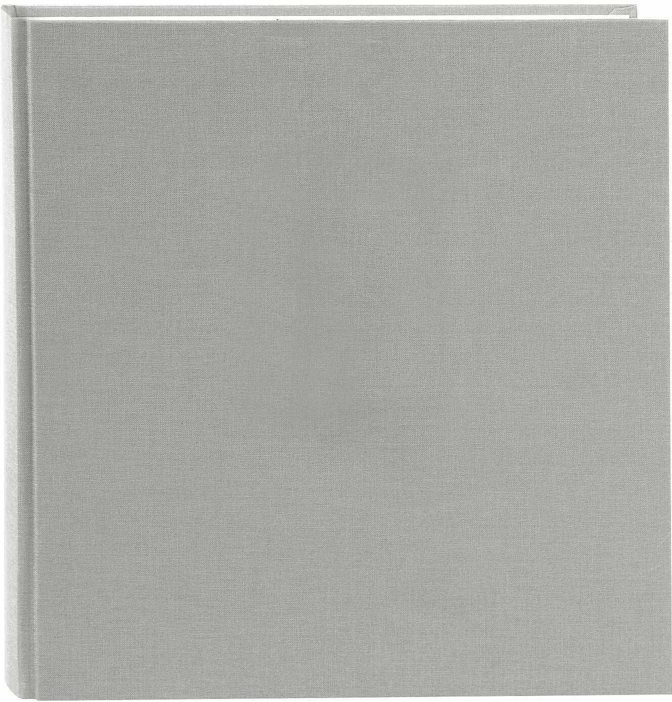 goldbuch 27606 album fotograficzny Summertime Trend 2, fotoksiążka z 60 białymi stronami z pergaminu, album fotograficzny z lnianą okładką, do 600 zdjęć, wysokiej jakości papier, szary, 30 x 31 cm