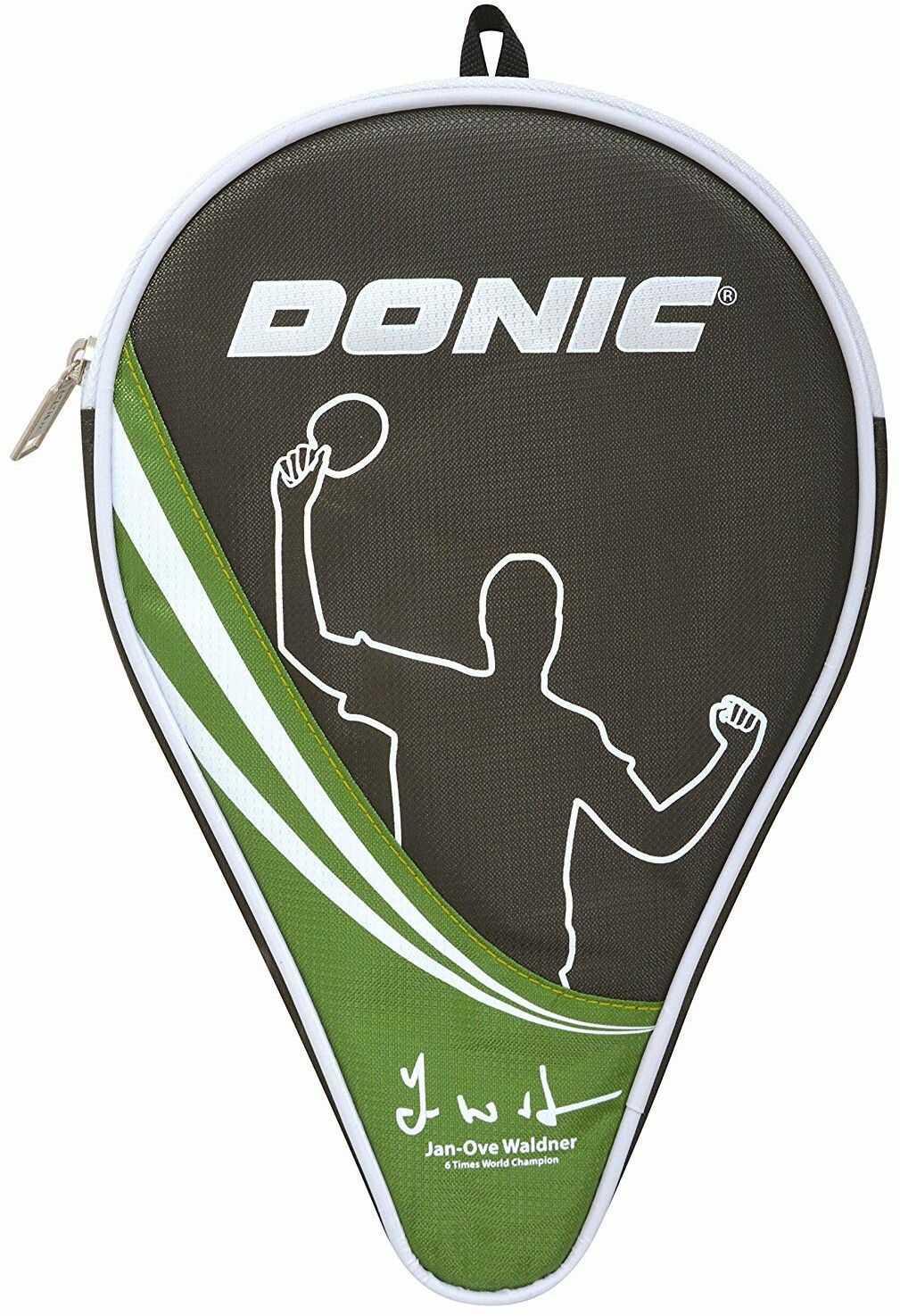 Donic-Schildkröt Pokrowiec na rakietę do tenisa stołowego Waldner, pokrowiec na rakietkę do rakiety, dodatkowa kieszeń na 3 piłki, 818537