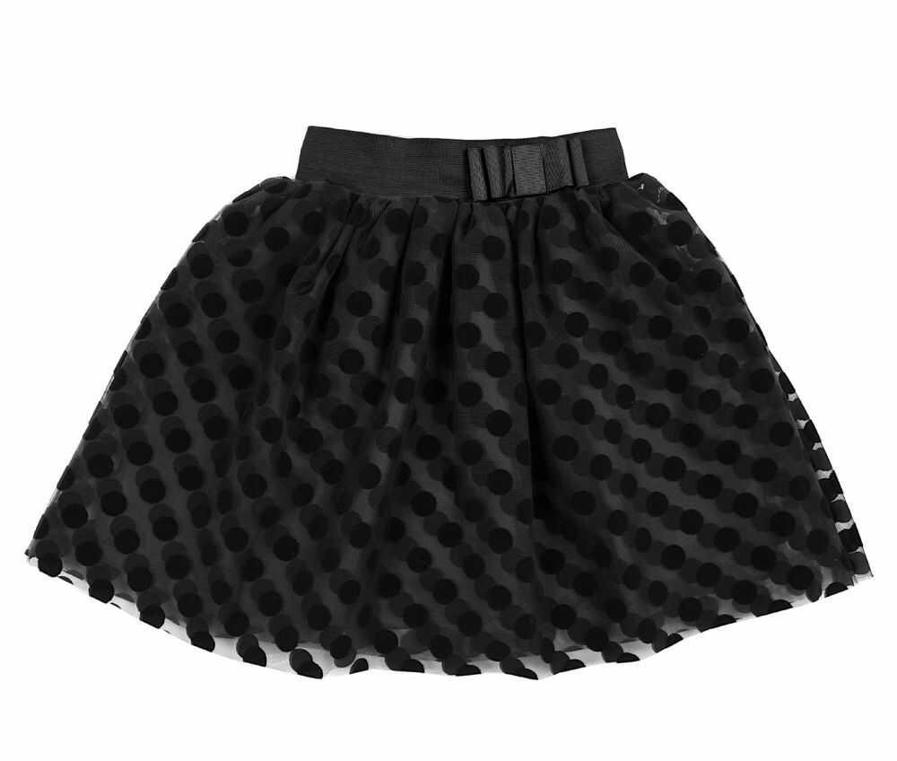 Tiulowa spódnica w grochy 104-146 Mila czarna