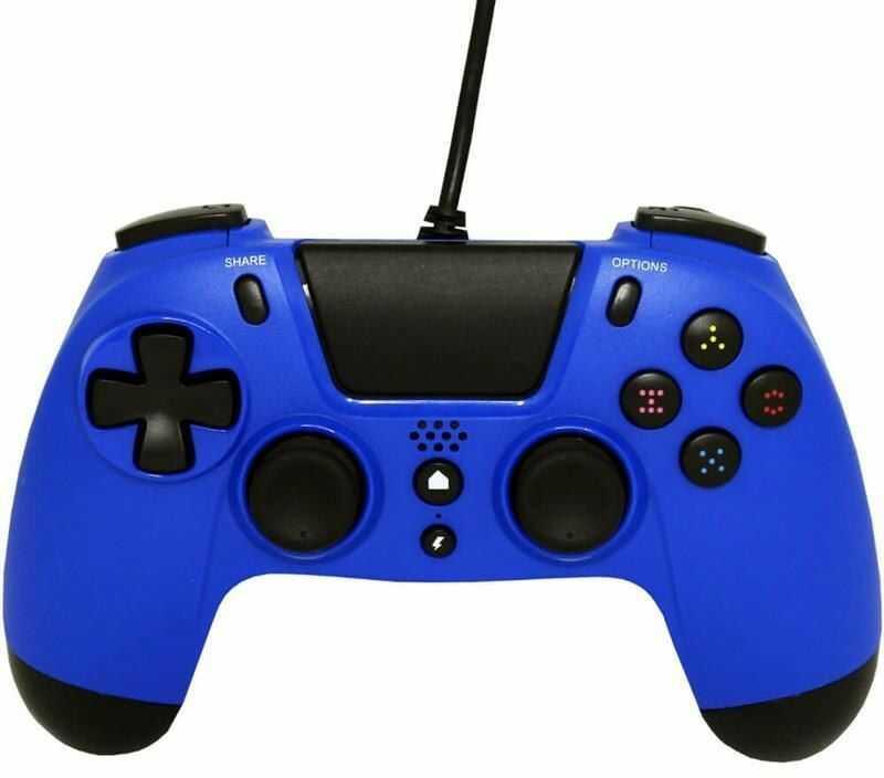 Gioteck Kontroler przewodowy VX4 PS4/PC niebieski
