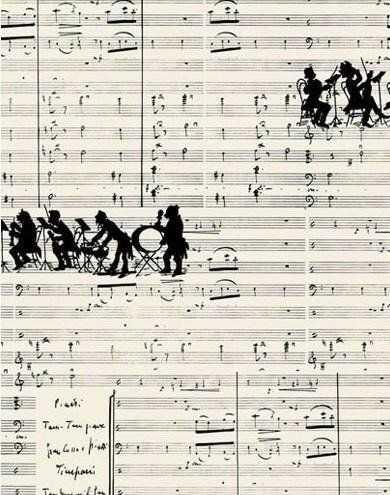 Notatnik ozdobny Muzyka QU44 A4/192K gładki TW - Tassotti