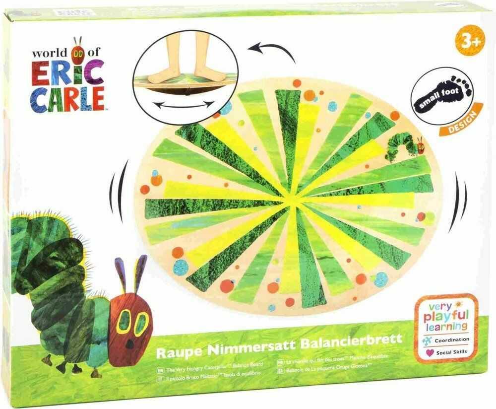 Drewniana równoważnia Źdźbła trawy Bardzo głodna gąsienica 11430-Small Foot design, zabawy zręcznościowe