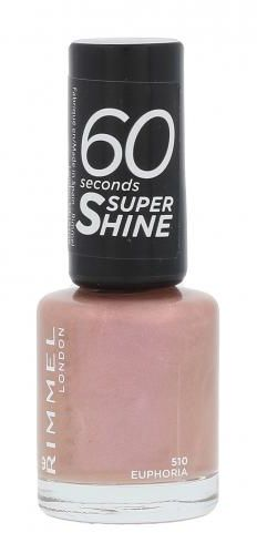 Rimmel London 60 Seconds Super Shine lakier do paznokci 8 ml dla kobiet 510 Euphoria