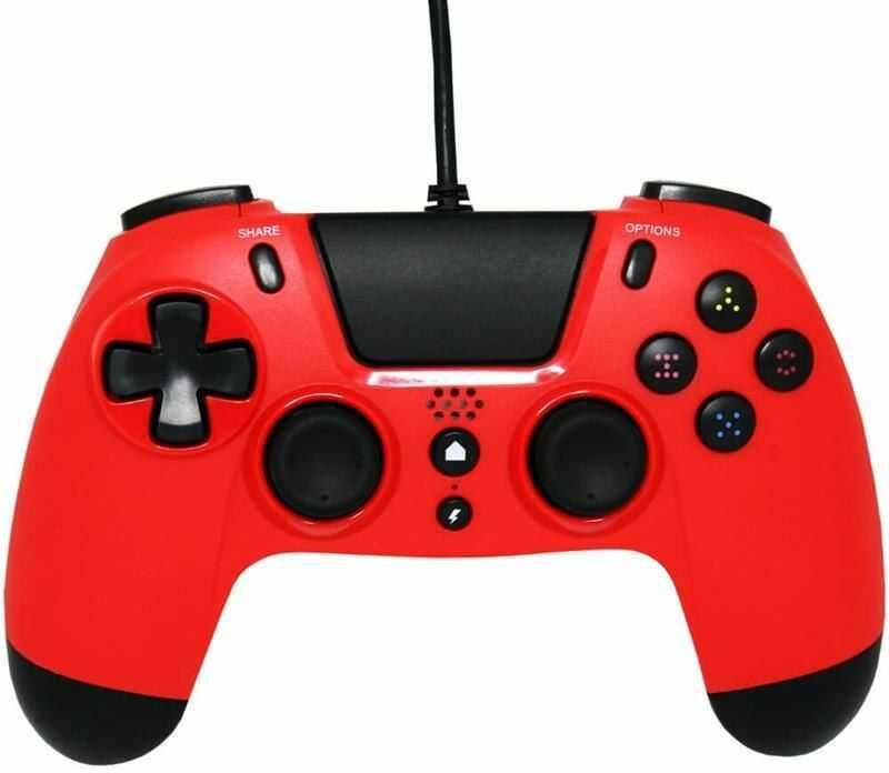 Gioteck Kontroler przewodowy VX4 PS4/PC czerwony