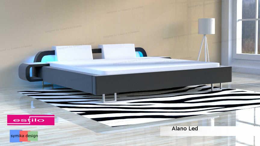Łóżko do sypialni Alano LED - meble do sypialni