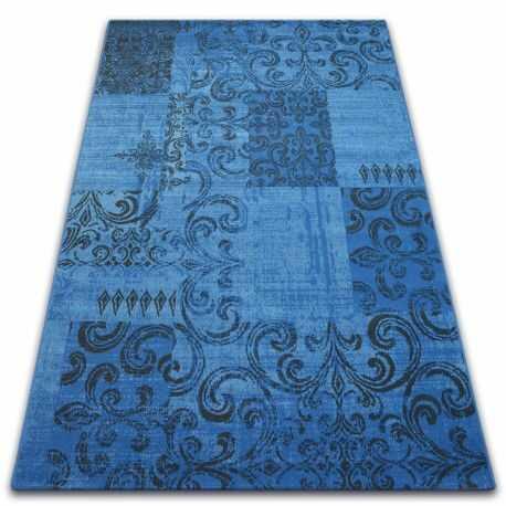 Dywan Vintage 22215/073 niebieski / szary patchwork 160x230 cm