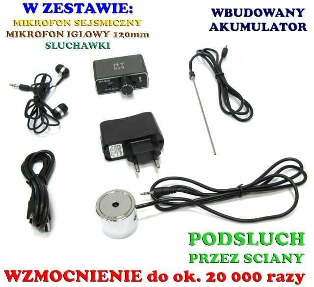 Profesjonalny Podsłuch Sejsmiczny Przez Ścianę (grubość do 50cm.!!), Drzwi, Okno, Sufit, Podłogę...