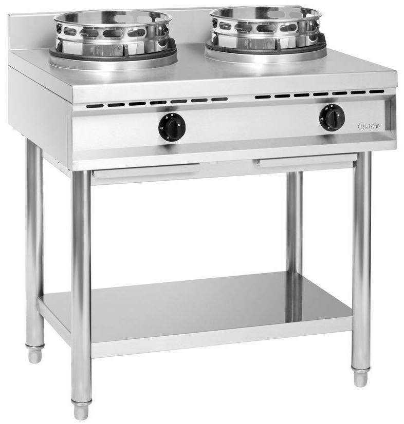 Bartscher Kuchnia wok gazowa 2 palnikowa 23000W - kod 1052103