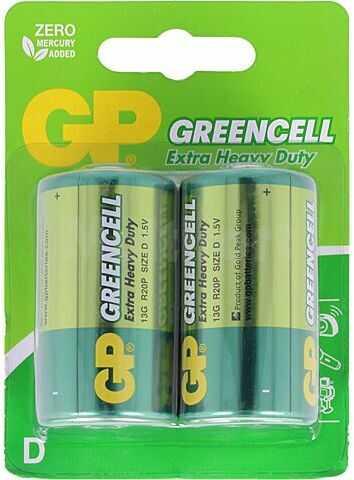 Bateria cynkowo-chlorkowa GP 1,5V D(R20) 2szt.