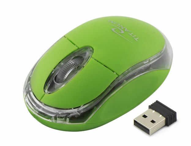 TM120G Mysz bezprzewodowa 2.4GHz 3D optyczna USB Condor zielona