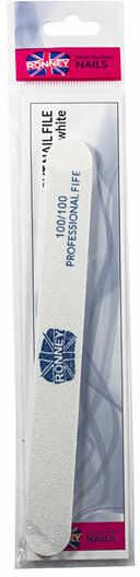 Ronney Profesjonalny pilnik do paznokci RN 00291 Dwustronny, gradacja: 100/100 1 szt.