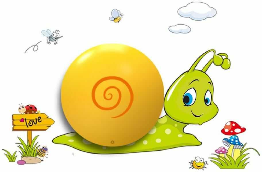 Milagro Snail ML113 kinkiet lampa ścienna dziecięca LED 0,6W Bateria 3xAAA z włącznikiem 12,5cm