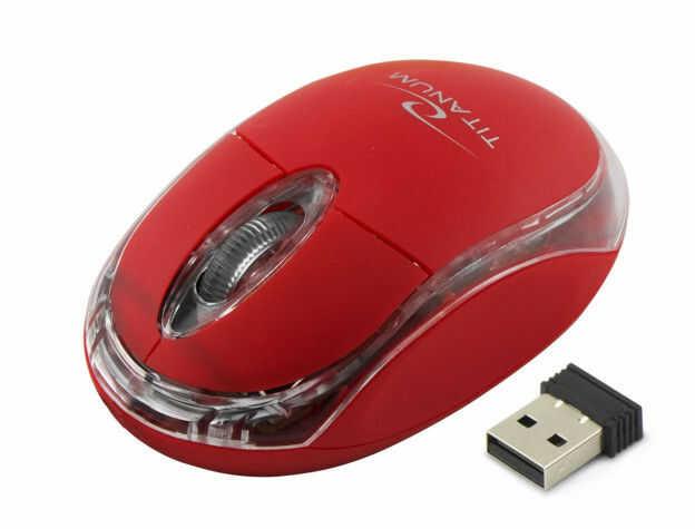 TM120R Mysz bezprzewodowa 2.4GHz 3D optyczna USB Condor czerwona