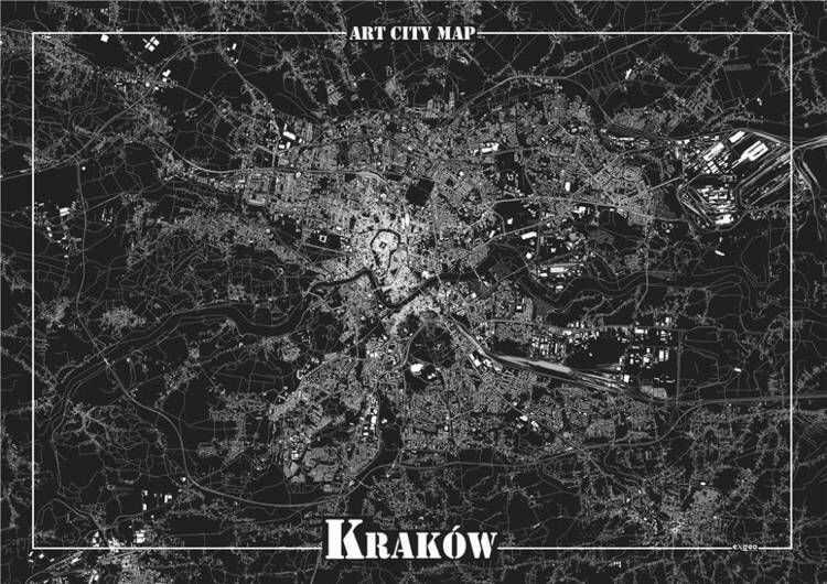 Plakat dekoracyjny - Kraków