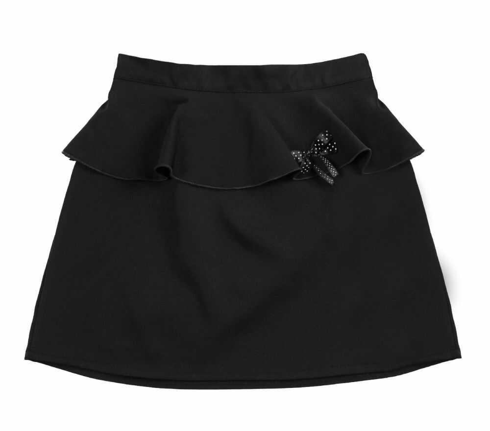 Elegancka spódniczka z falbanką 122-158 Triss czarna