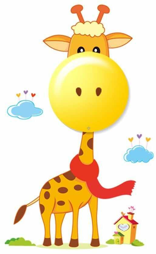 Milagro GIRAFFE ML114 kinkiet lampa ścienna dziecięca żyrafa 0,6W LED z włącznikiem Bateria 3xAAA 12,5 cm