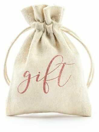 Woreczki bawełniane Gift różowe złoto 7,5x10cm 10 sztuk WRB1-019R-10x