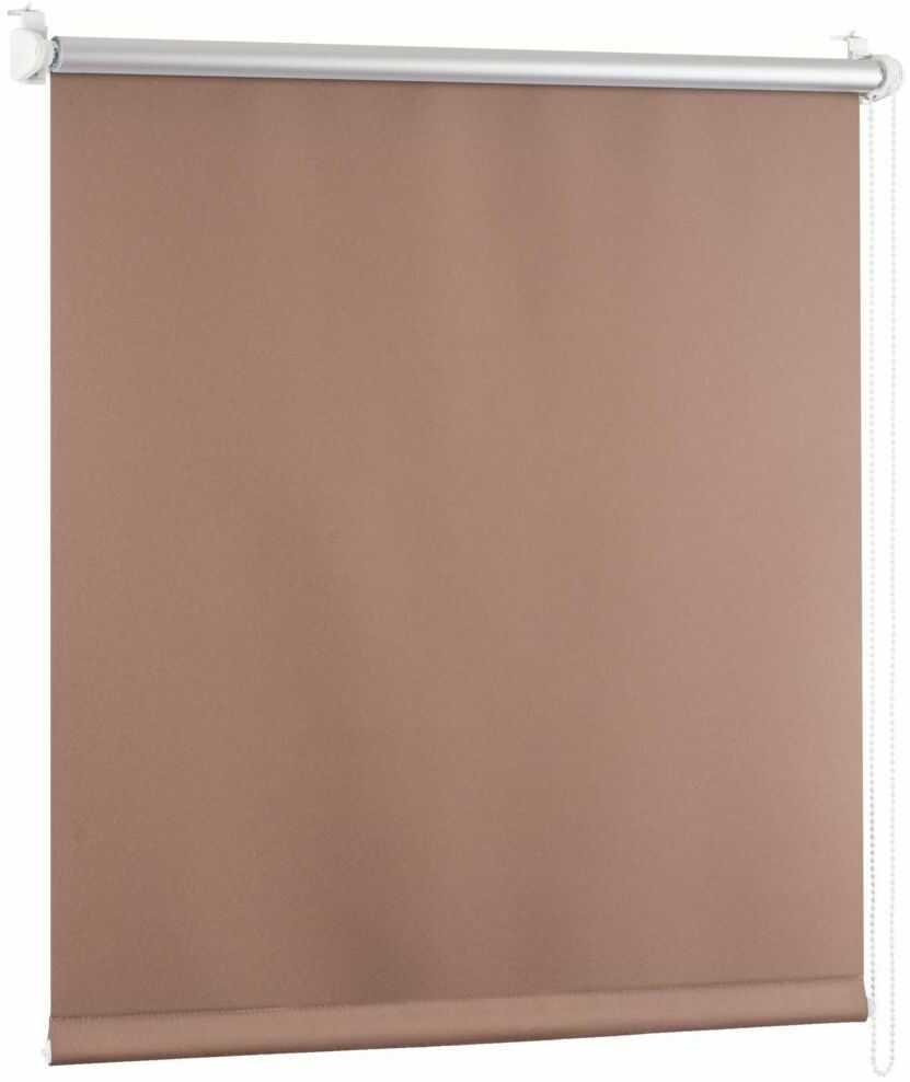 Roleta zaciemniająca BLACKOUT 48 x 150 cm brązowa termoizolacyjna