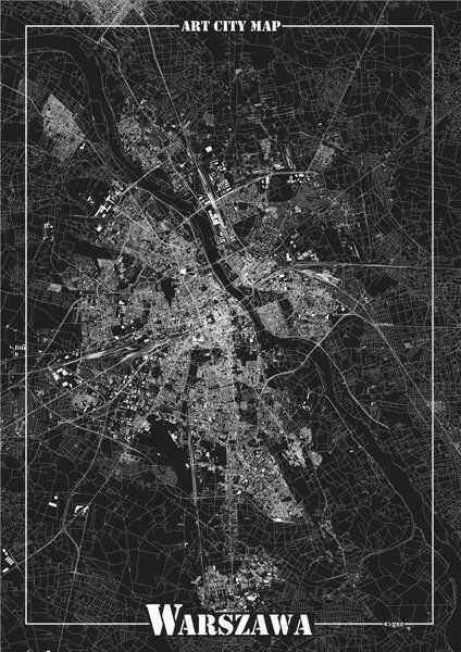 Plakat dekoracyjny - Warszawa