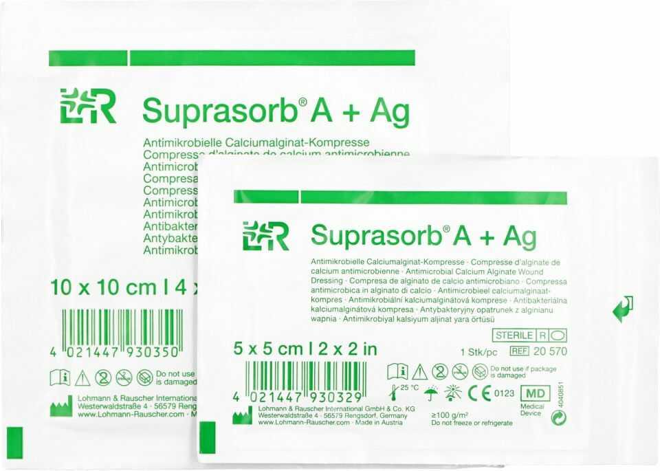 Opatrunek przeciwbakteryjny z alginianu wapnia Suprasorb A + Ag (LR)