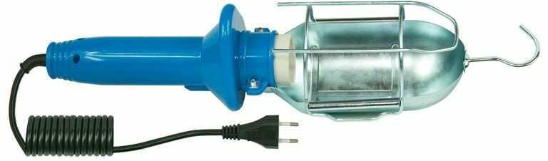 Oprawa warsztatowa 60W E27 niebieska /H05RN-F 2x0,75 5m/ IP20 D.3031G