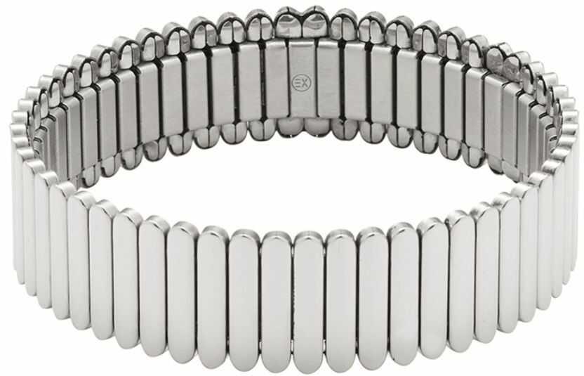 Elastyczna bransoletka magnetyczna 3622-1 ze stali chirurgicznej i miedzią, polerowana