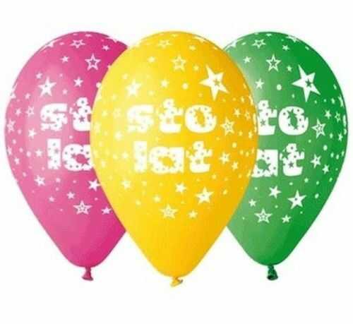 "Balony Premium 12"" Sto lat, 5 szt."