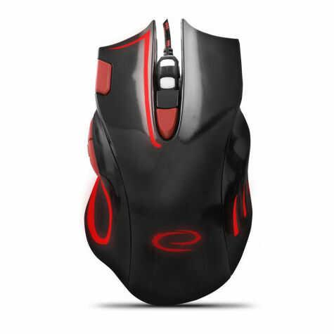 EGM401KR Mysz przewodowa dla graczy 7D optyczna USB MX401 Hawk czarno-czerwona