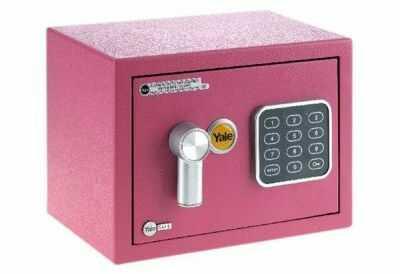 YSV/170/DB1 Mały sejf domowy z zamkiem elektronicznym Yale - różowy