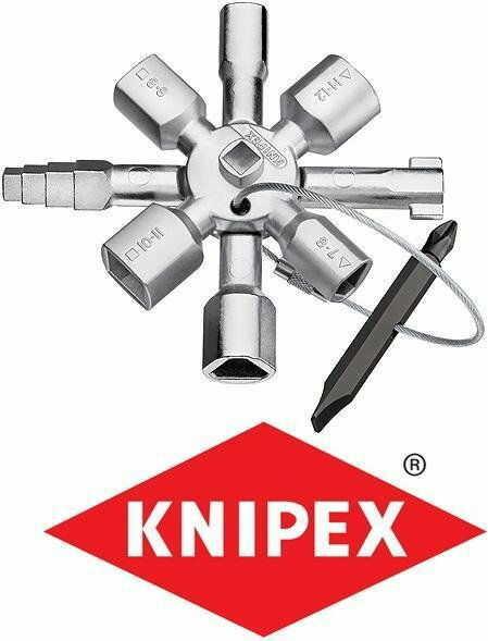 klucz uniwersalny do szaf, tablic rozdzielczych, skrzynek i systemów odcinających TwinKey KNIPEX [00 11 01]