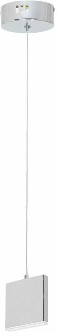 Milagro CUADRA ML441 lampa wisząca chrom płaska metalowa obudowa akrylowy klosz możliwość regulacji wysokości 1X5W LED 4000K 12,2cm