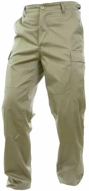 Spodnie wojskowe Mil-Tec wzmacniane BDU Khaki (11805004)