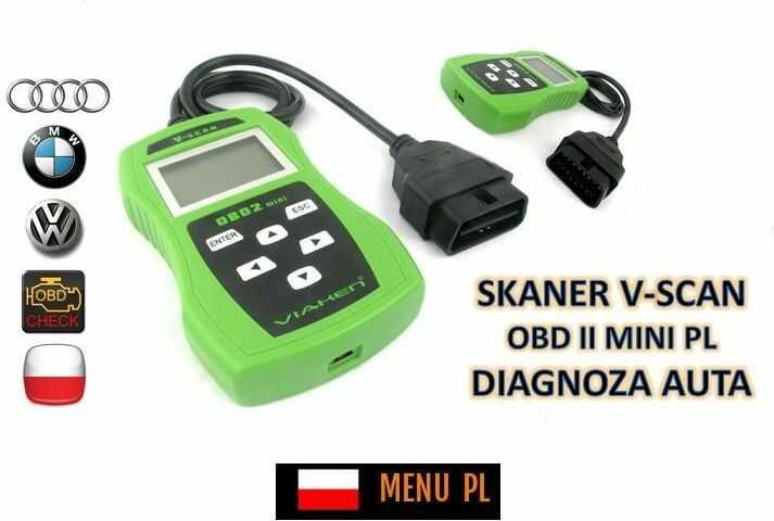 Skaner/Interfejs Diagnostyczny Obsługujący Kilkaset Modeli Pojazdów + Menu PL itd.