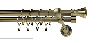 Karnisz LIBERTY RYFEL 19/19mm antyk mosiądz