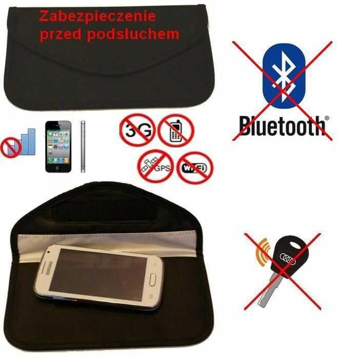 Duży Pokrowiec na Tel. GSM/Smartfon, Kluczyk Samoch.. (chroni przed inwigilacją..), Blokując Sygnał.