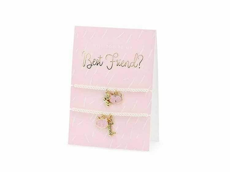 Kartka z bransoletkami Best Friends + koperta 1szt KAB1