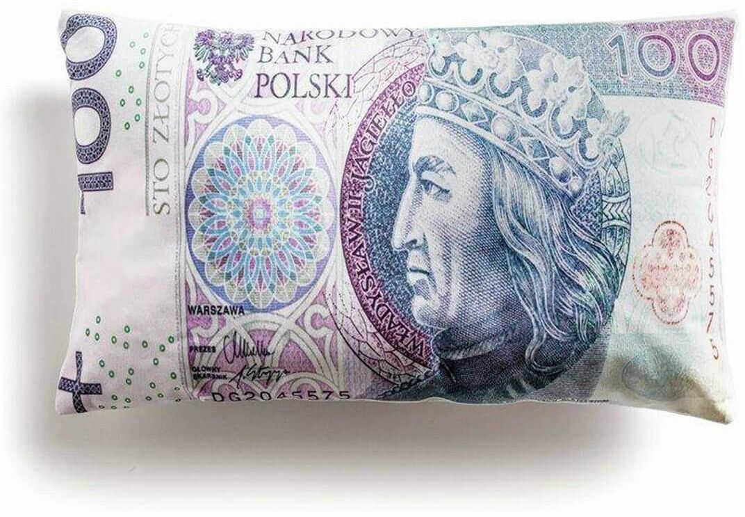 Poduszka 100 złotych PLN