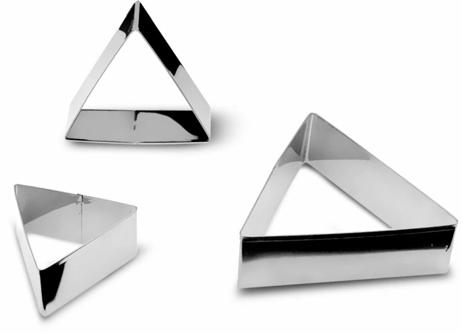 Zestaw 3 foremek do ciastek w kształcie trójkątów
