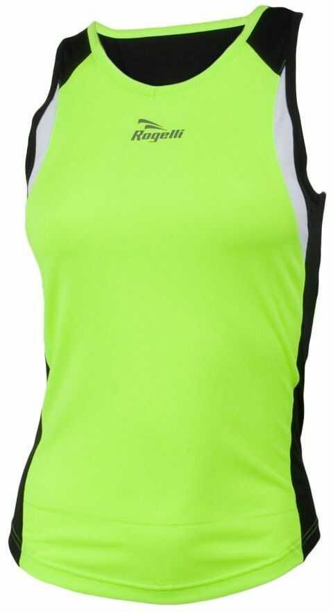 Rogelli Damska koszulka do biegania bez rękawów Esty, Fluor-Yellow/Black/White, S