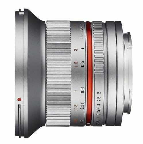 Samyang 12mm F2.0 Canon M srebrny