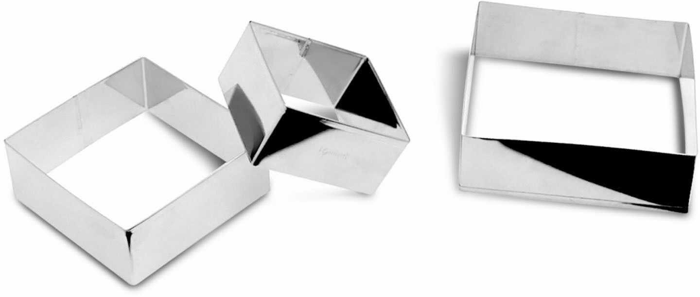 Zestaw 3 foremek do ciastek w kształcie kwadratów