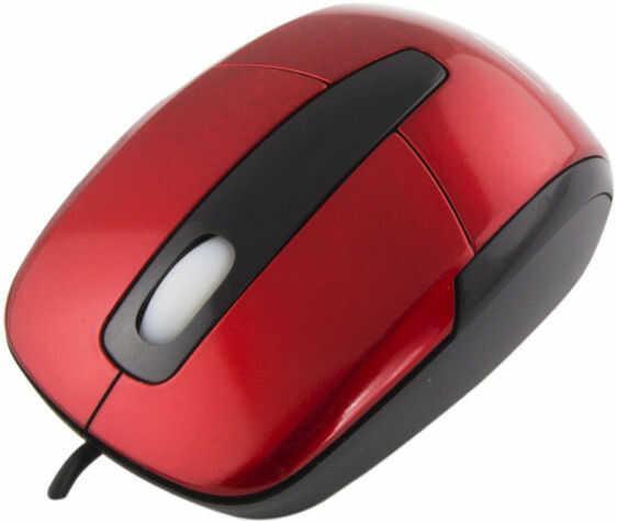 TM108R Mysz przewodowa 3D optyczna USB Barracuda czerwona Titanum